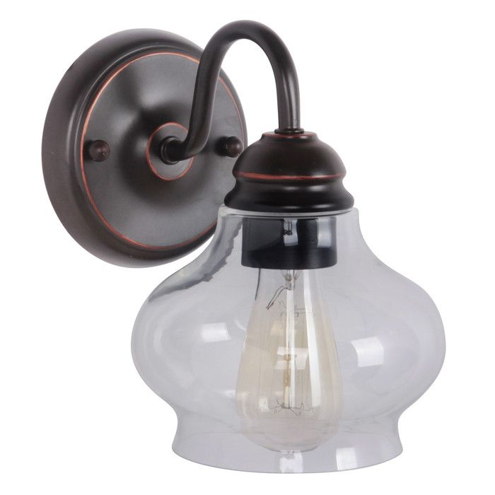 Jeremiah Yorktown 1 Light Wall Sconce & Reviews | Wayfair. Bedroom sconce