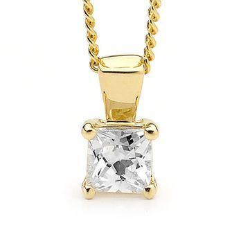 Buy our Australian made Cubic Zirconia Pendant  Princess Cut  - BEE-63844-CZ online. Explore our range of custom made chain jewellery, rings, pendants, earrings and charms.