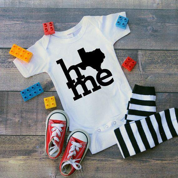 Texas onesie- Texas Baby- home of Texas- Cute onesies- Newborn Onesies- Baby shower gifts- Trendy baby clothes- custom onesies- home  This listing