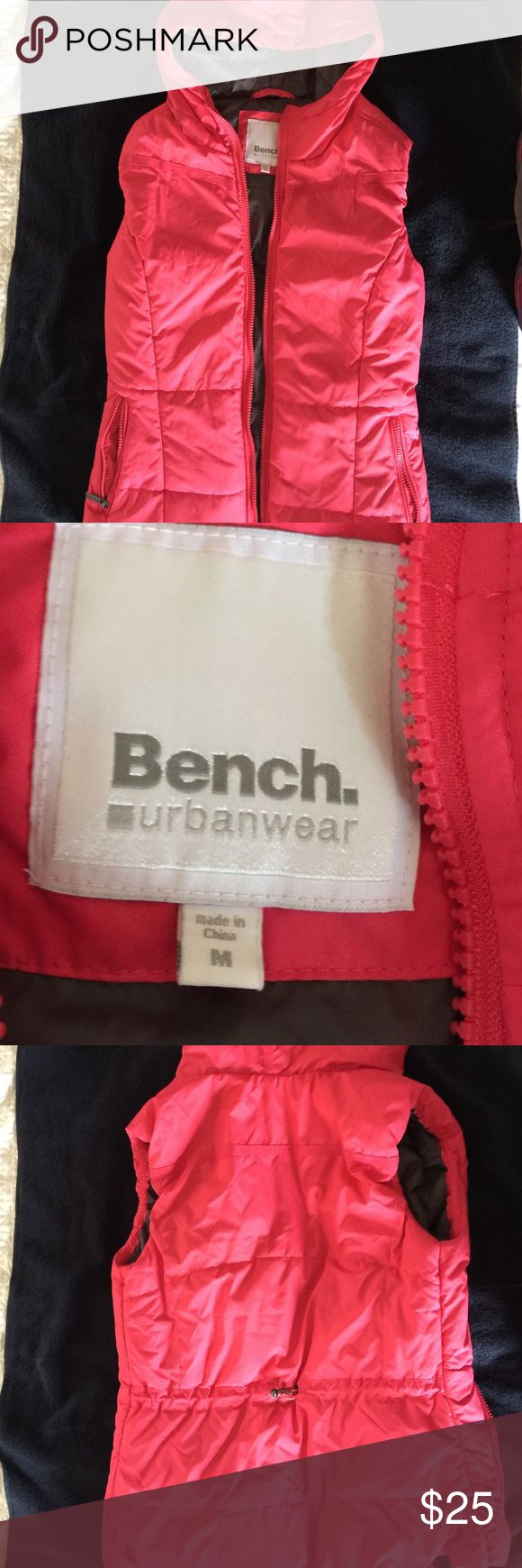 Bench pink best with hoodie No tag but never been worn Bench Jackets & Coats Vests