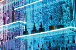 CineLighting™ LED Acrylic Shelves!   These clear acrylic shelves can be used for just about anything; bars, restaurants, kids rooms, office, kitchens or anywhere in and around your home, office and restaurant.