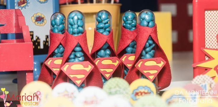 Tubetes personalizados Super Man | Tema heróis | Festa infantil para meninos | Boy Party