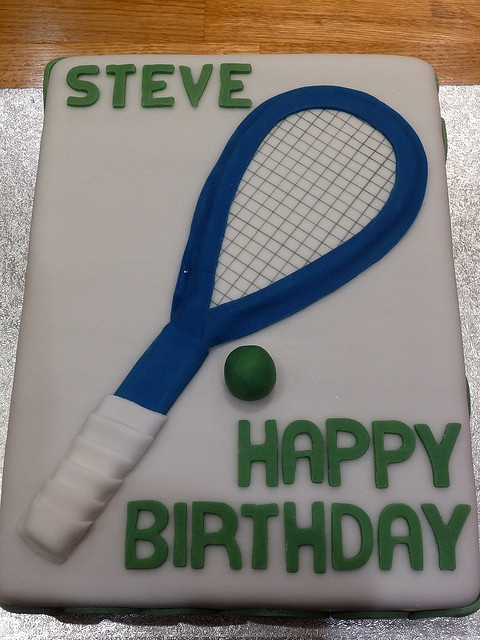 Squash Racket Birthday Cakes