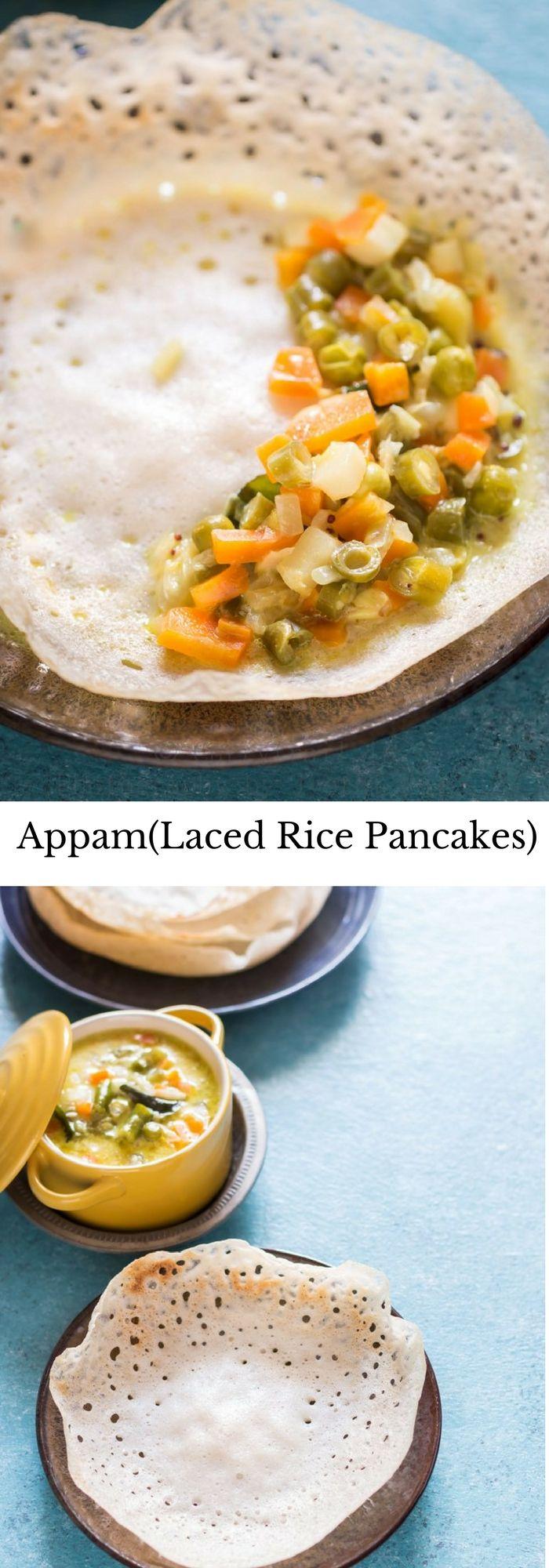 Kerala Appam Recipe with Yeast | Kerala's laced rice pancakes