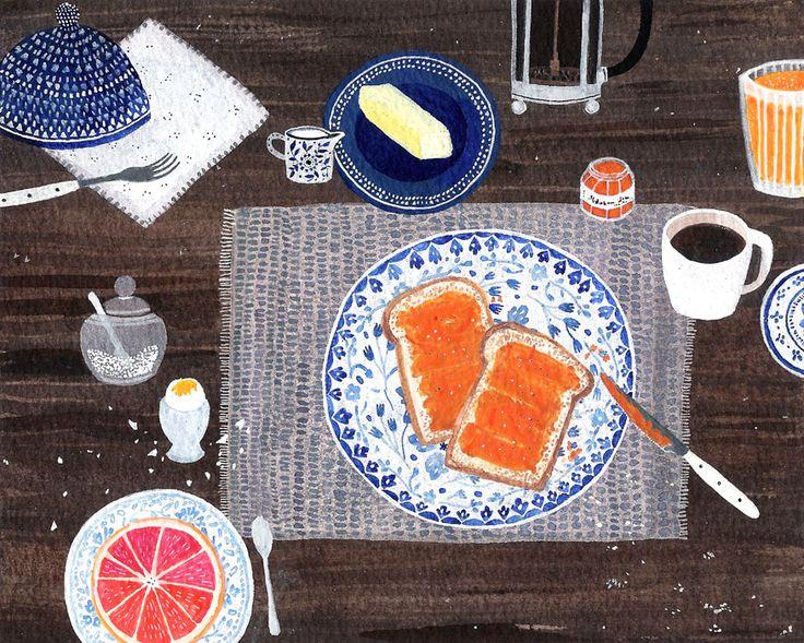 azurea: Breakfast by Becca Stadtlander.