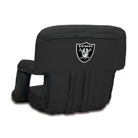 Picnic Time Indoor/Outdoor Steel Oakland Raiders Bleacher Folding Chai