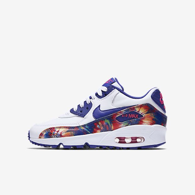 Nike Air Max 90 Print Leather Big Kids' Shoe ...