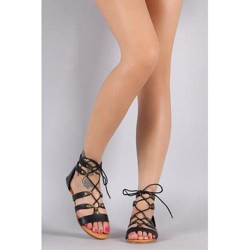 Bamboo Ghillie Metal Loop Flat Sandal