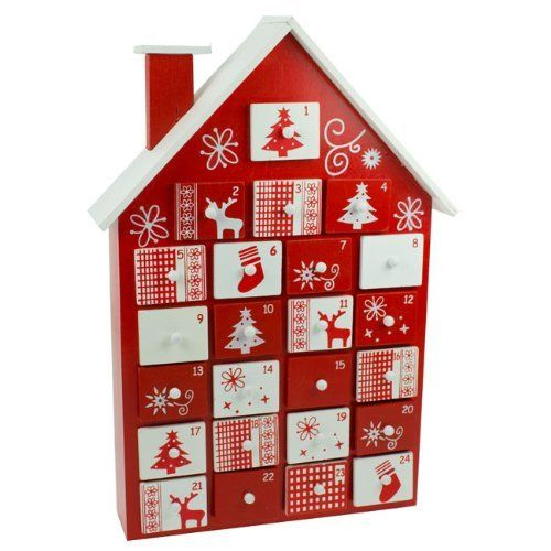 Nordic Style Wooden House Advent Calendar Http Www