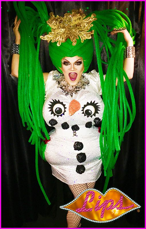 LIPS Fort Lauderdale's Twat Larouge serving Frosty realness for the holidays!! #lipsnyc #lipsatl #lipsfla