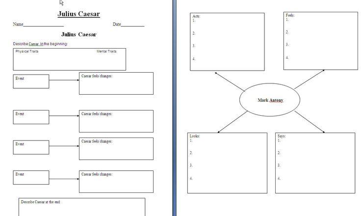 Julius Caesar~Graphic Organizers
