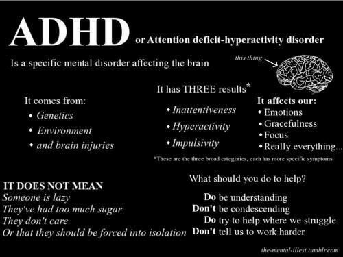 dating person with adhd Adult attention deficit hyperactivity disorder  dating, and marital instability  medication is designed to help a person with adhd be less distracted,.