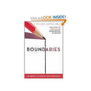 Boundaries: When to Say YES, When to Say NO, To Take Control of Your Life.  Having clear boundaries is essential to a healthy, balanced lifestyle. A boundary is a personal property line that marks those things for which we are responsible. In other words, boundaries define who we are and who we are not. Enjoy ~