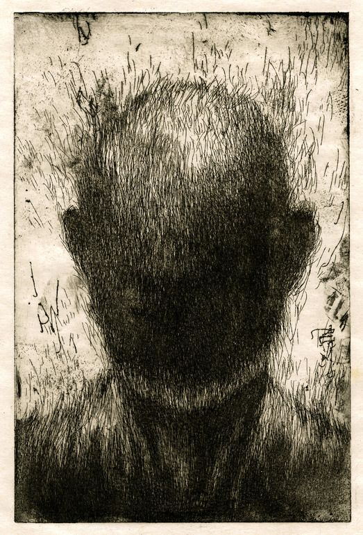 "Saatchi Online Artist: Joon Hee Lee; Etching, 2011, Printmaking ""Lost Portrait"". Its eerie how the features are pulling off. Fighting against gravity, the force of nature. Have they lost their identity?"