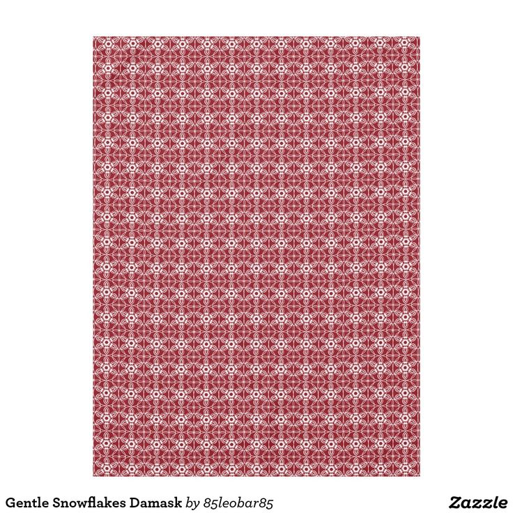 Gentle Snowflakes Damask Tablecloth