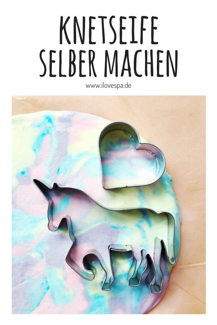 DIY Regenbogen Knetseife