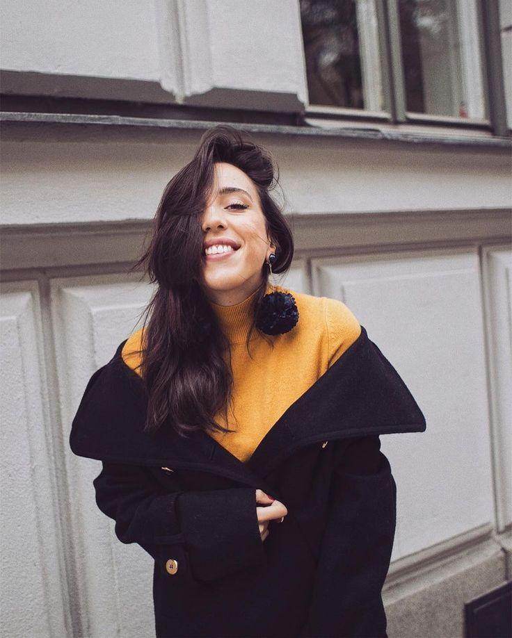 Sania Claus Demina wearing Leo Wool Jacket