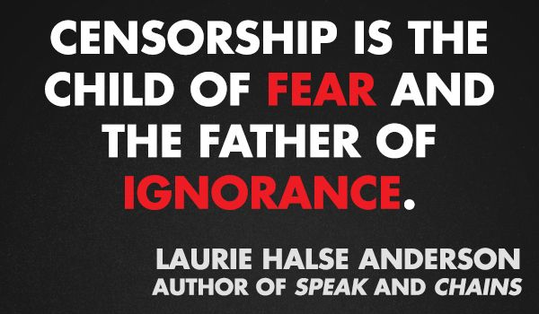 Laurie Halse Anderson | Community Post: 11 Quotes From Authors On Censorship & Banned Books