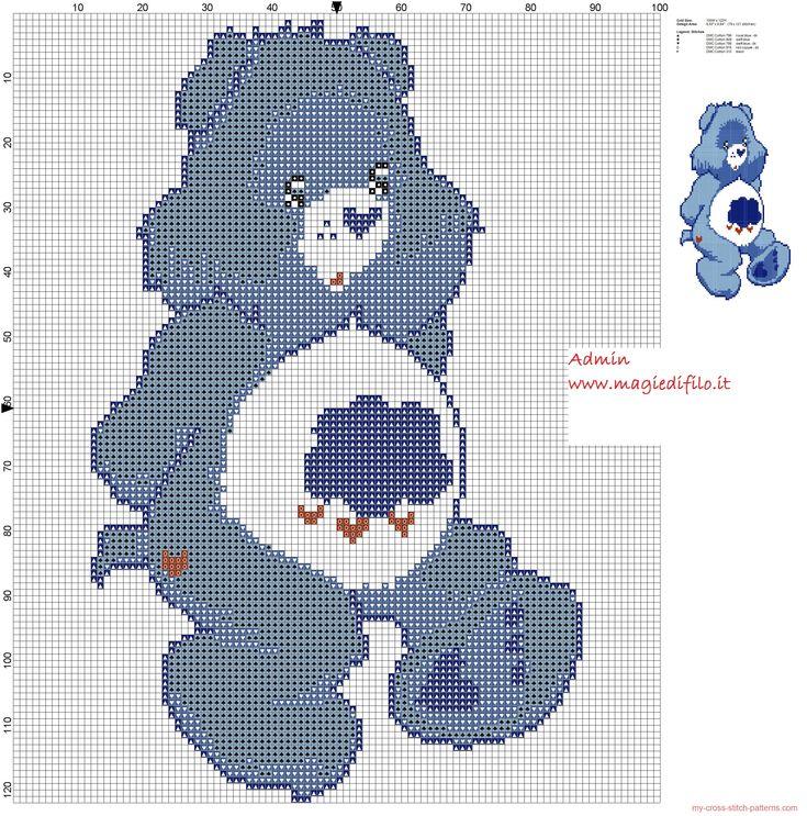 Grumpy Bear (Care Bears) cross stitch pattern