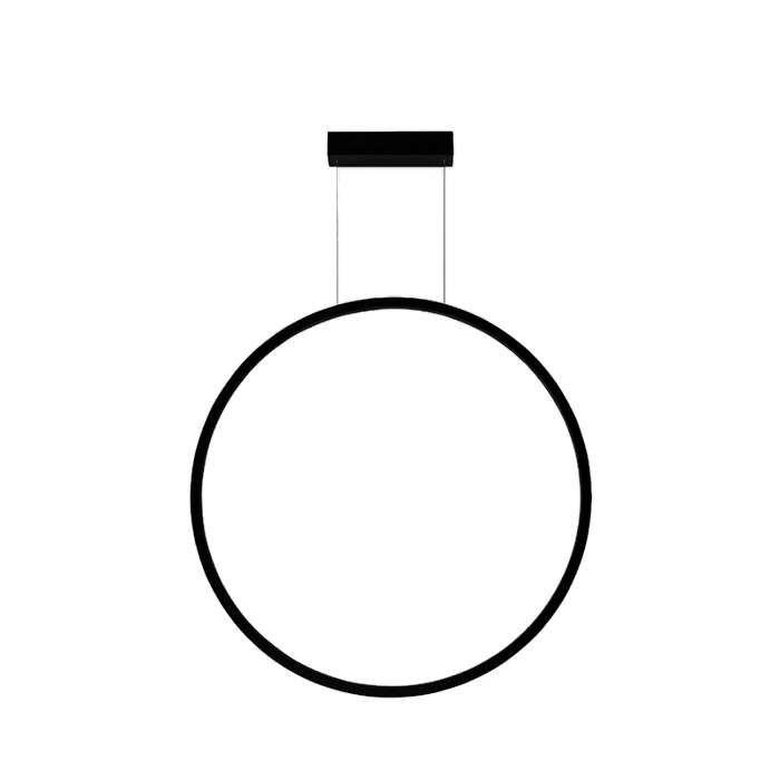 Lampa Wiszaca Echo Vertical 67951 Bk Ramko Metalowa Oprawa Zwis Led 35w Pierscien Ring Czarny