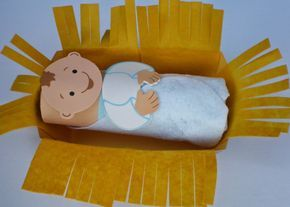 Petersham Bible Book & Tract Depot: Baby Jesus in a Manger Craft Kit
