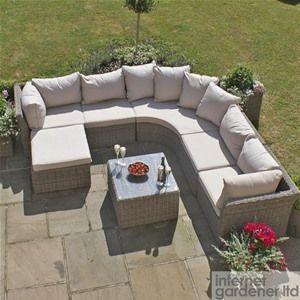 Maze Rattan Winchester Modular Rounded Corner Sofa Set