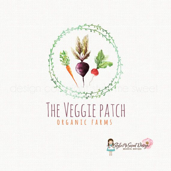 veggie logo design beet logo design carrot by stylemesweetdesign