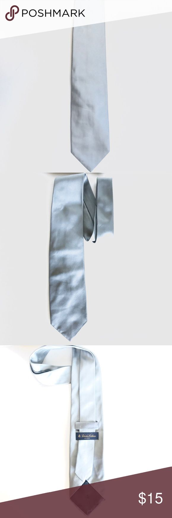 Brooks Brothers Tie Men's Brooks Brothers Tie, One Size, Grey Silver, Smoke Free Home Brooks Brothers Accessories Ties
