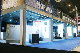 Double Deck Exhibit - Norway at OTC trade show 2015