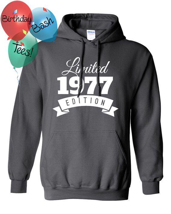 1977 Birthday Hoodie 39 Limited Edition by BirthdayBashTees