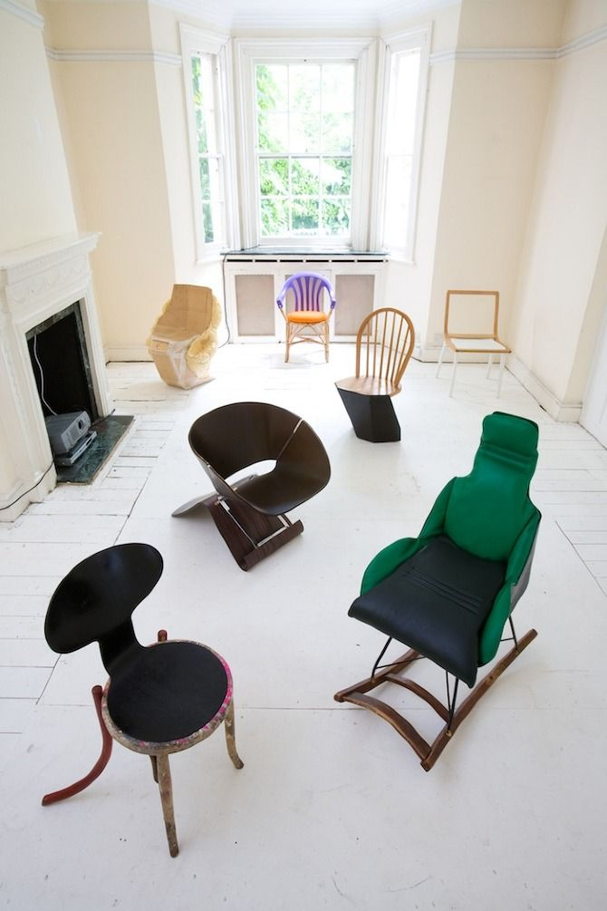 100 Chairs In 100 Days   Martino Gamper [project Involves Systematically  Collecting Discarded Chairs From