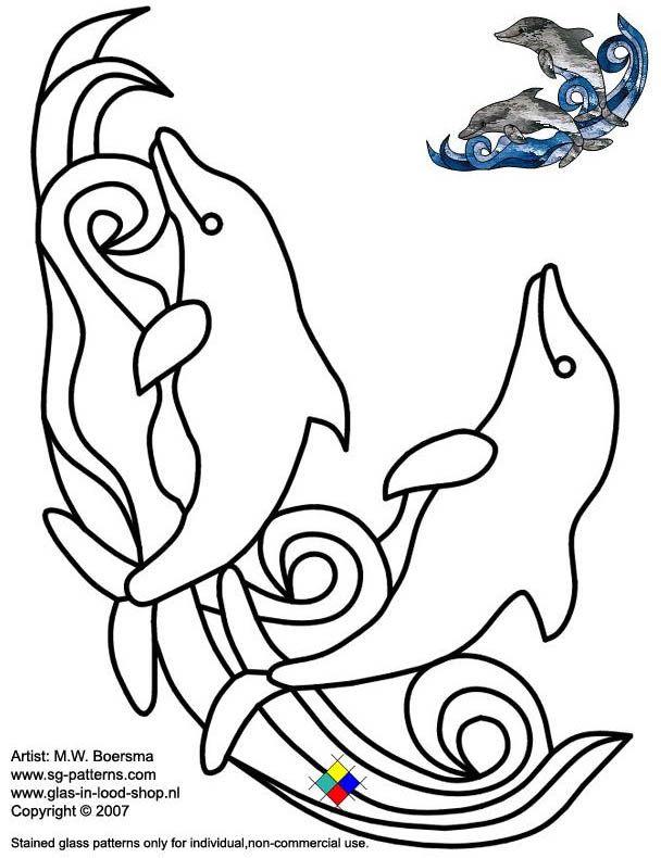 Трафареты, эскизы и шаблоны витражей — Эскизы витражей Glass Books — Эскиз витража 17