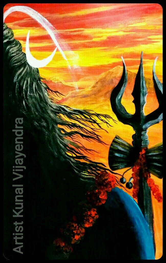 Lord Shiva Painting In 2019 Lord Shiva Painting Shiva