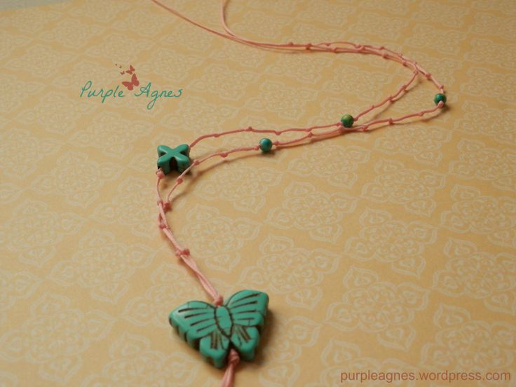 Bohemian Jewelry, Butterfly Pendant, Pastel Colors
