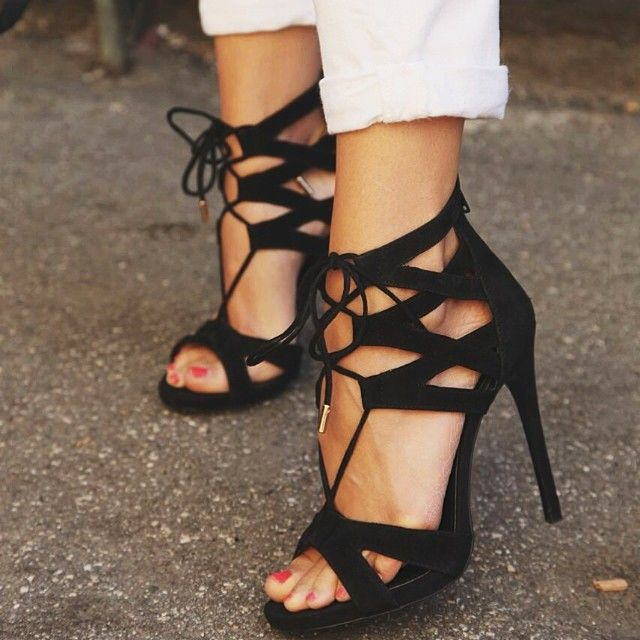 That Tie Up Strappy Heels