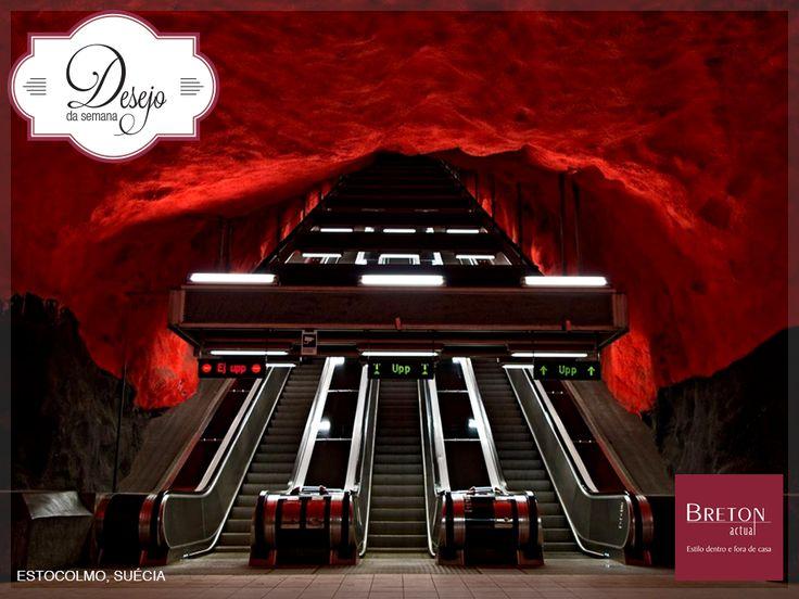 Quem disse que o cotidiano não reserva belas surpresas aos olhos? Conheça o show de arquitetura e décor que algumas estações de metrô pelo mundo podem proporcionar.  #BretonActual #Breton #DesejodaSemana #Décor