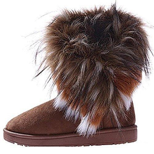 Oferta: 9.52€. Comprar Ofertas de Minetom Mujeres Niñas Invierno Botas Tacón Plano Pelaje Botas De Nieve Calientes Zapatos Marrón EU 37 barato. ¡Mira las ofertas!