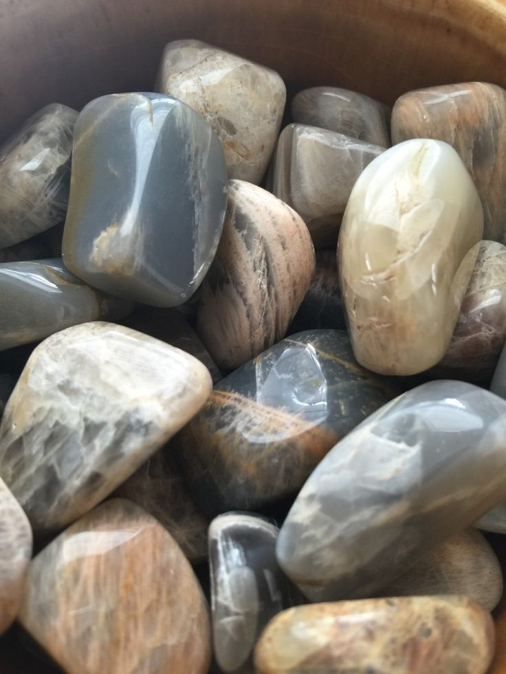 Tumbled polished Moonstone //magical crystal, wire wrap, black moonstone crystal, chakra crystal, meditation,earthy crystal by thisthatandthese on Etsy https://www.etsy.com/listing/269972350/tumbled-polished-moonstone-magical