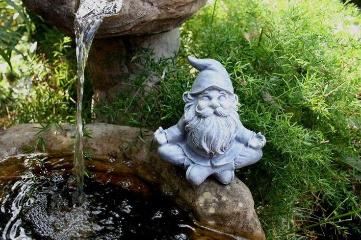 Yoga Gnome In Lotus Position - Meditating Garden Gnome - Concrete Zen Buddha - Gnome Garden Statue by PhenomeGNOME on Etsy https://www.etsy.com/listing/464495218/yoga-gnome-in-lotus-position-meditating