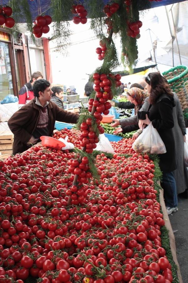 Vegetable market in Istanbul, Turkey