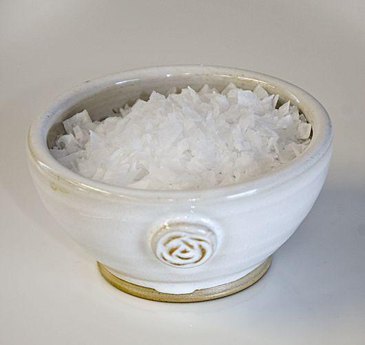 Saltskål, vit