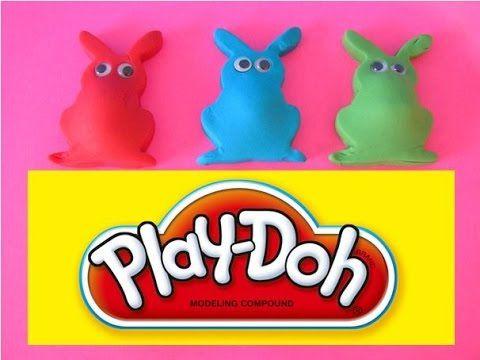 Play Doh 5 Easter Bunny Surprise Eggs Gogo Dora the Explorer Trash Pack Squinkie Valentine Heart - YouTube