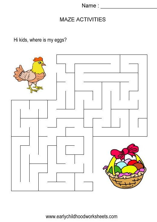 Maze Preschool Worksheets : Best mazes images on pinterest kindergarten fine