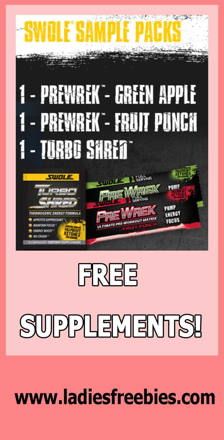 FREE WORKOUT SUPPLEMENTS FROM SWOLE SPORTS! This is your chance lady to reform your shape! ladiesfreebies.com #freebies #freesamples #freesupplements