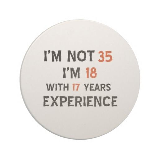35th Birthday Designs Beverage Coaster