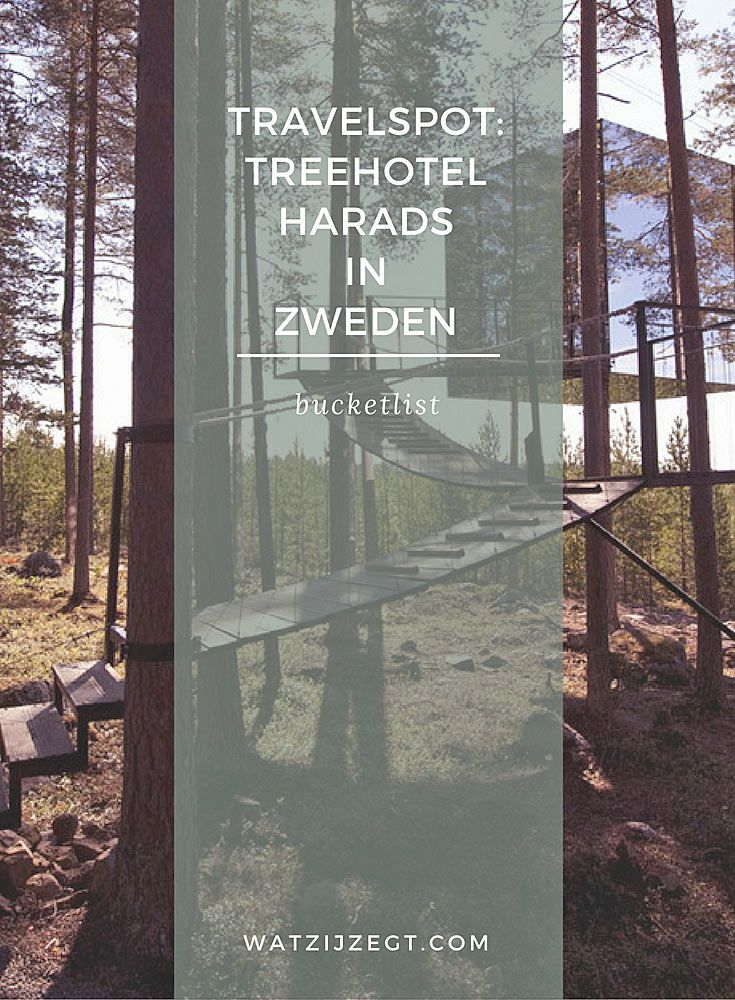 Travelspot for the bucket list: Treehotel Harads in Sweden is awesome!