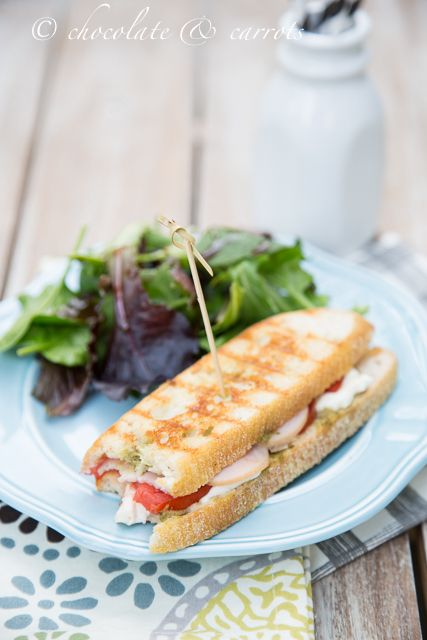 Recipe: Caprese Protein Panini w/ Land O'Frost Premium Minis by @caroline k. k. Edwards | chocolate and carrots on landomoms.com