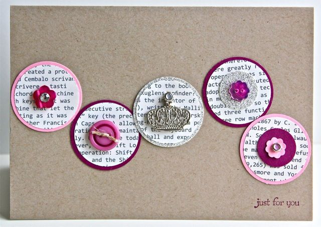 Simple card using circle punches and Frist Edition DSP.