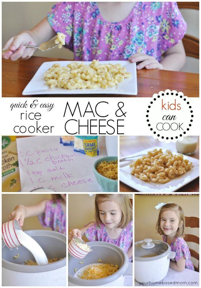 Rice Cooker Mac & Cheese - I had no idea you could do this!!