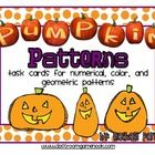 These pumpkin pattern task cards are perfect to get your students practicing their pattern identifying skills.  There are a total of 24 task cards ...